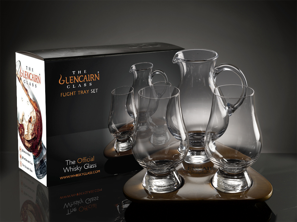 Glencairn Glass Flight Tray set